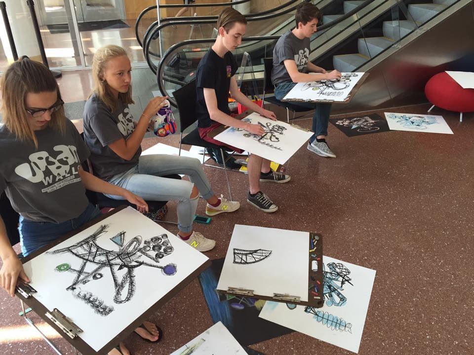 Ivy TechColumbus Graphic Design summer camp students