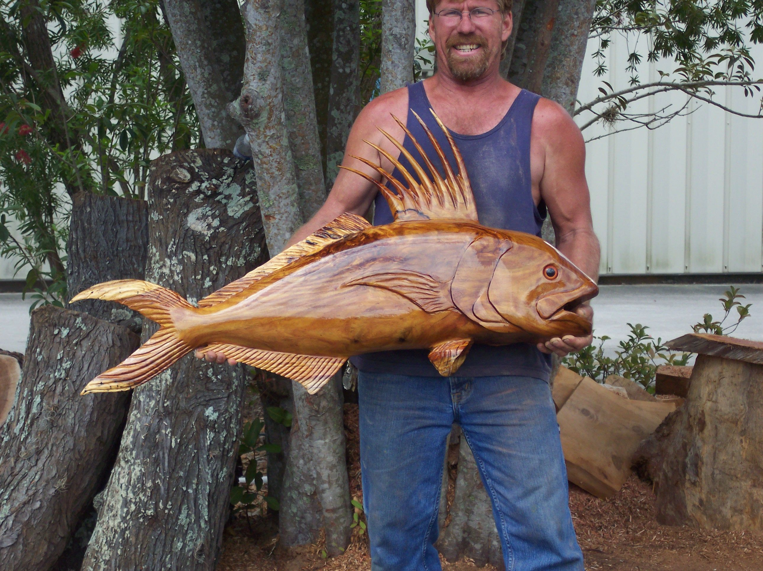 Carved fish wood crafts pinterest carving