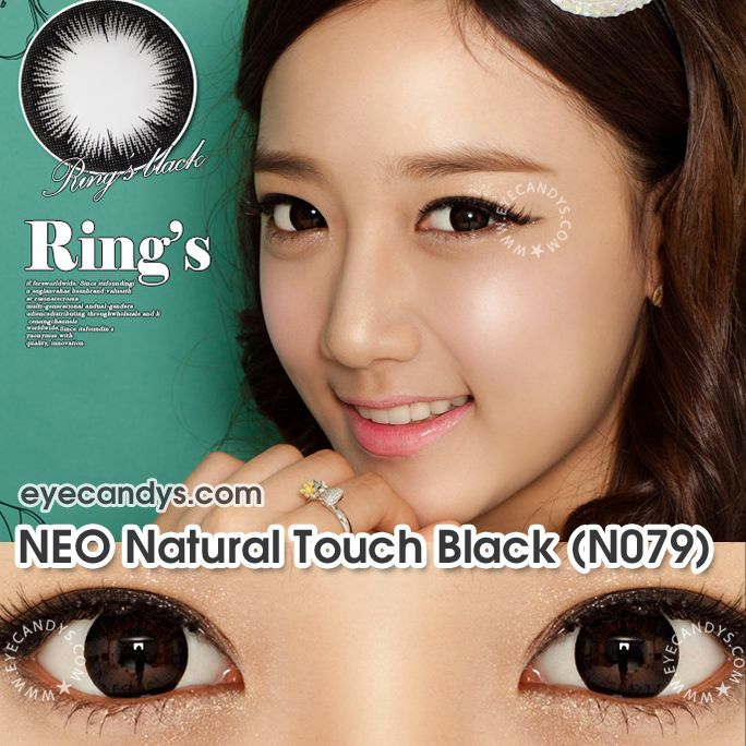 neo natural touch black circle lenses and color contacts