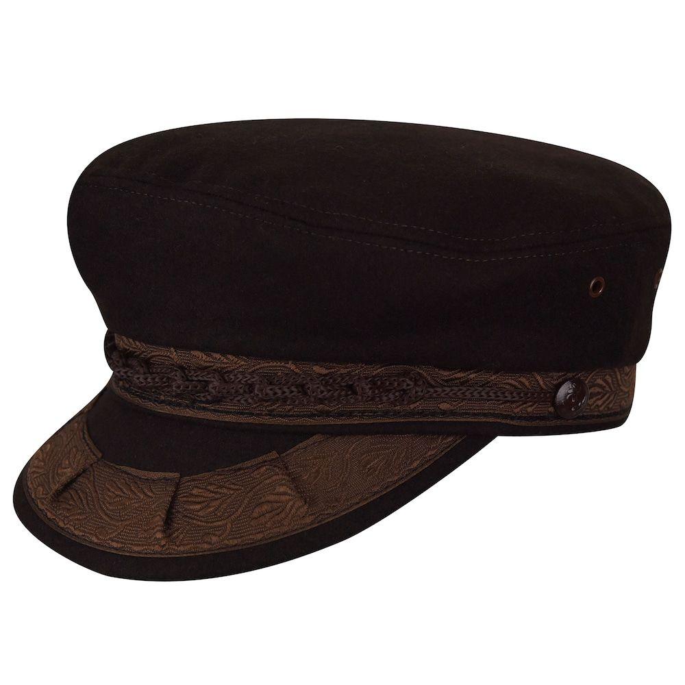 85e93bd87cc83f Men's Country Gentleman Wool-Blend Greek Fisherman Cap, Size: 6 3/4, Dark  Brown