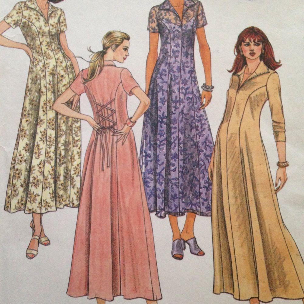 Mccalls long dress u slip pattern sz uncut petiteable