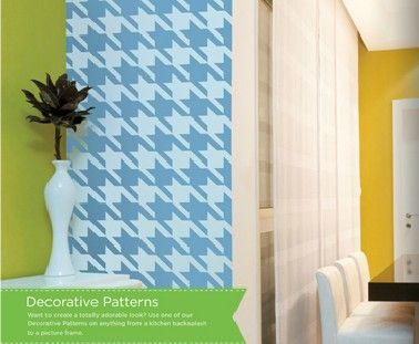 Removable Vinyl wall paper in different patterns and every color! I'm so excited!