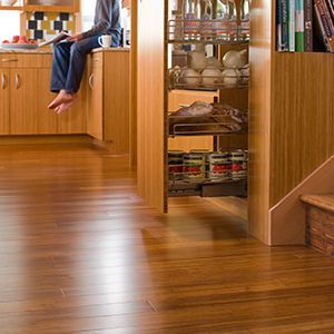 Environmentally Friendly And Stylish This Chestnut Bamboo Floor From Teragren Creates Such A Warm Ambiance Best Thing Bamboo Flooring Flooring Best Flooring