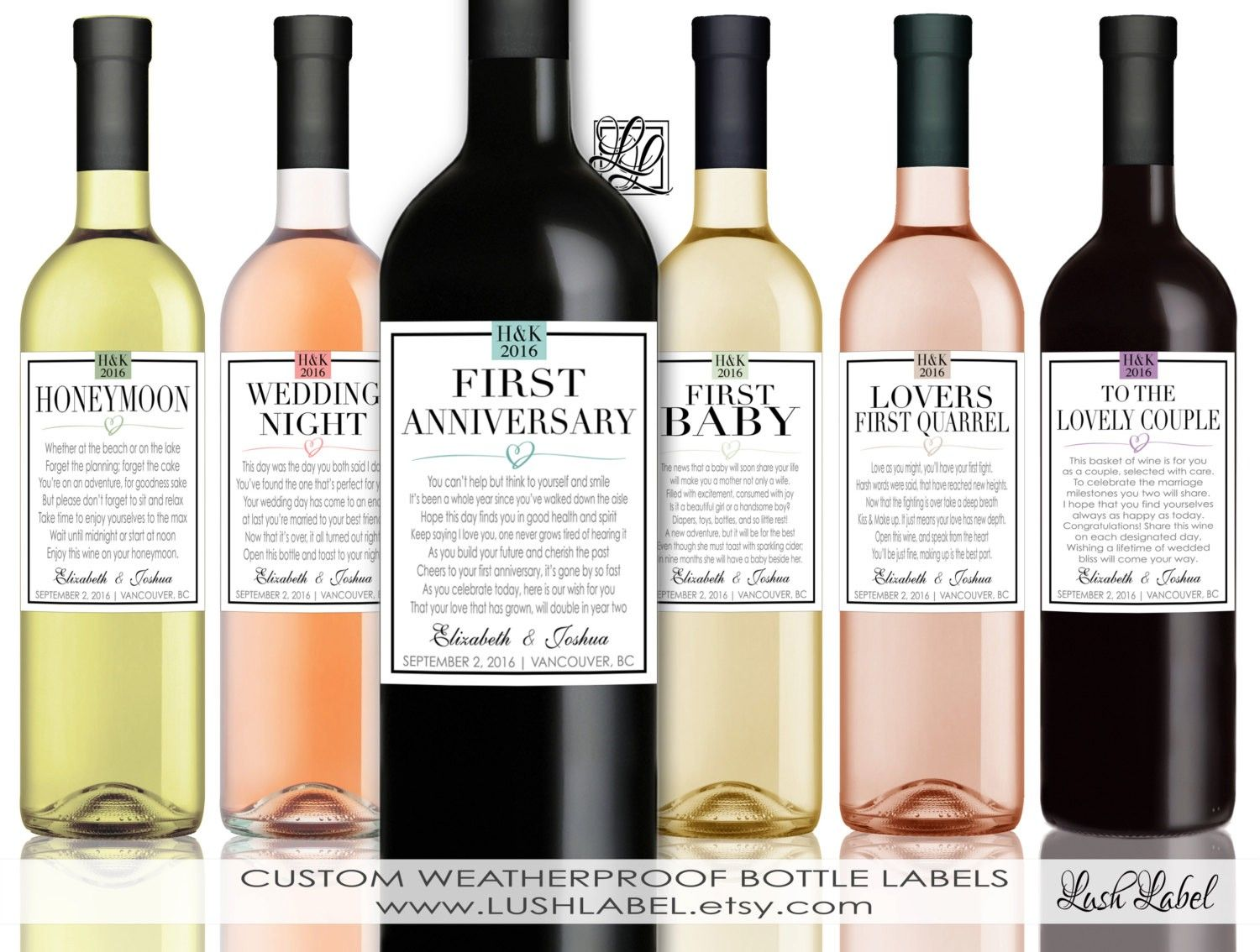 wedding shower poem ideas%0A Excited to share the latest addition to my  etsy shop  Married First Wine  Labels
