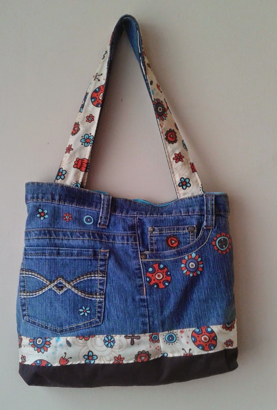 Carteras de Jeans Reciclados ~ Ideas Giya | Bolsos en Jean ...