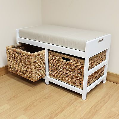 Terrific Hartleys Bench Cushion Seat Seagrass Wicker Storage Pdpeps Interior Chair Design Pdpepsorg