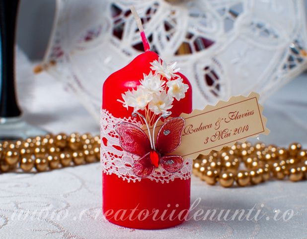 Marturii Nunta Lumanari Decorative Coafuri Table Decorations
