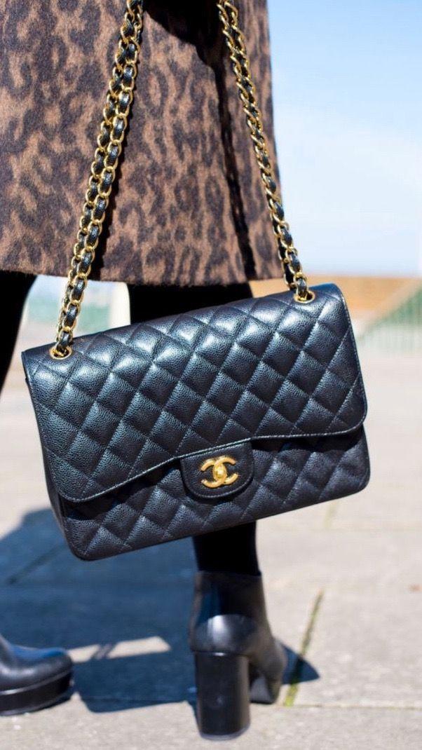 bd72d51893b43b Leopard print coat, ankle boots, Chanel classic flap. Luxury handbag  inspiration. Chanel handbag of dreams! Autumn outfit inspiration, fall  fashion ideas.