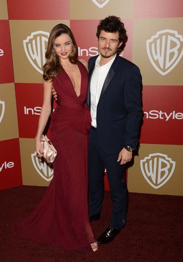 Glam celeb inspiration: Miranda Kerr & Orlando Bloom at Golden Globes after-party