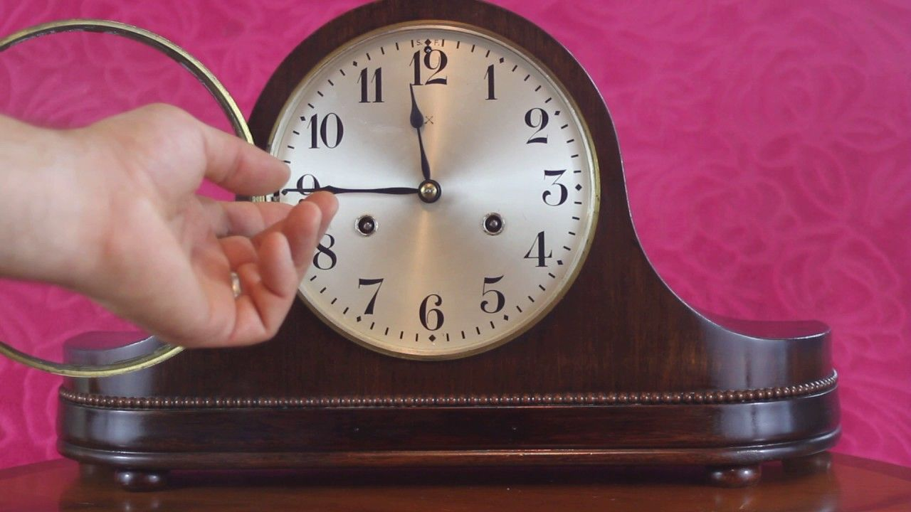 Vintage art deco german wurttemberg hac mantel clock with vintage art deco german wurttemberg hac mantel clock with westminster amipublicfo Choice Image