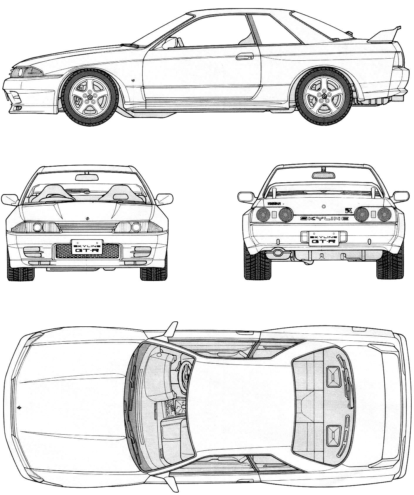 R32 skyline gt r blueprints svasta pinterest r32 skyline r32 skyline gt r blueprints malvernweather Gallery
