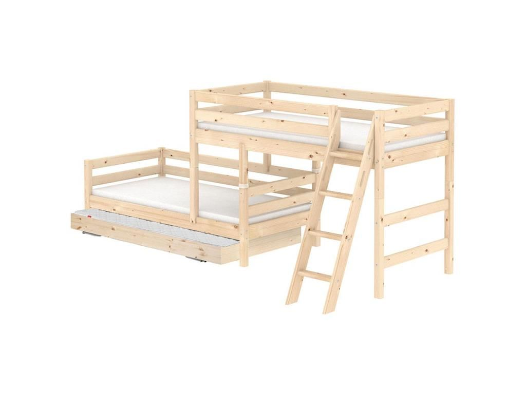 Flexa Etagenbett Classic : In trapez etagenbett flexa classic mit schräger leiter und