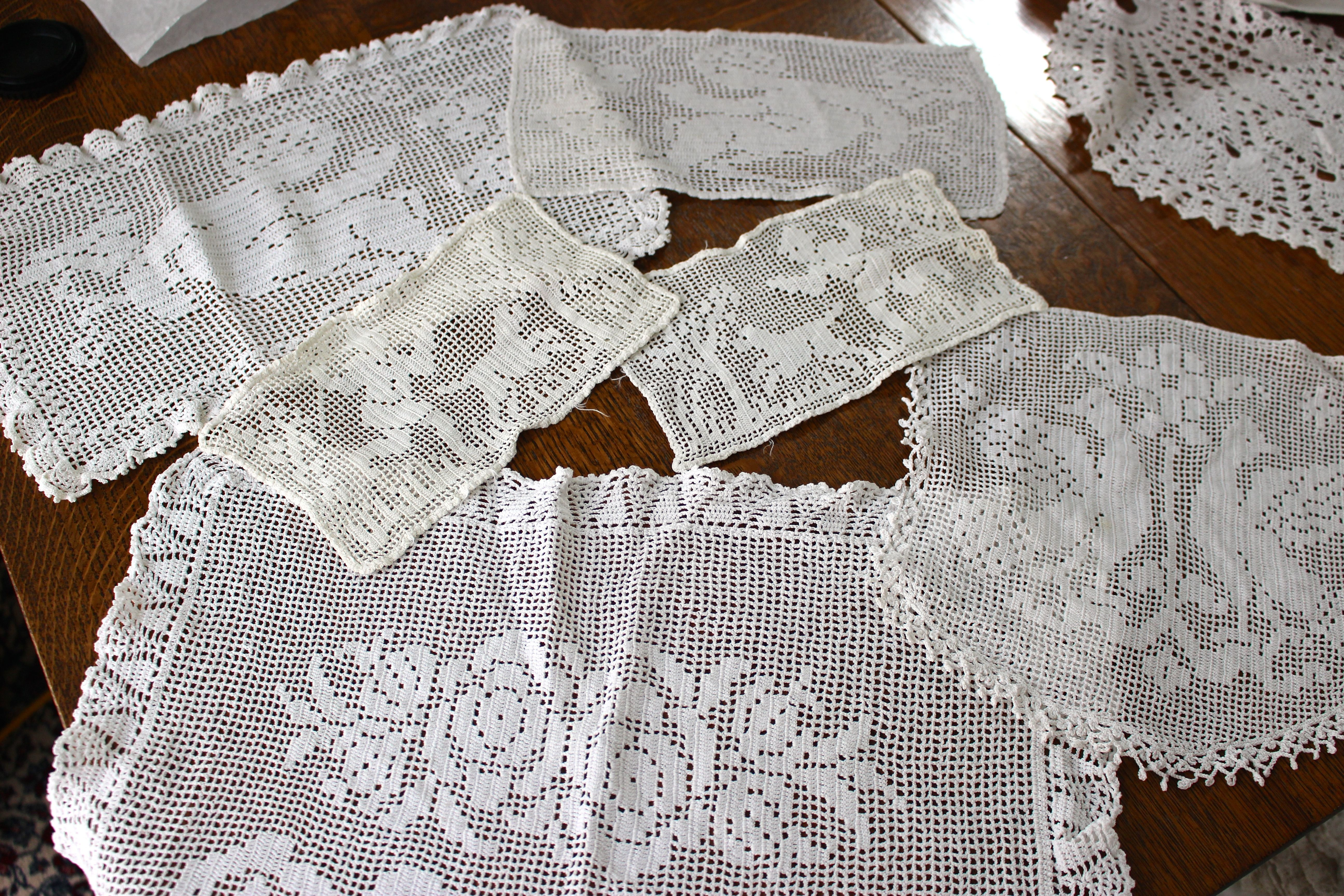 1930s Crocheted Doilies And Antimacassars By Gramma Rosa Simonelli