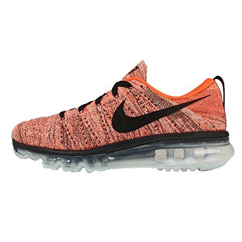 Nike WMNS Flyknit Air Max 620659-008 Black/Hyper Orange/Sunset Glow Women's  Shoes * Find out more about the great product at the image link. (This …