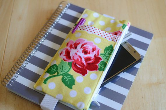Planner Band Pen Holder Deluxe Pouch Yellow By