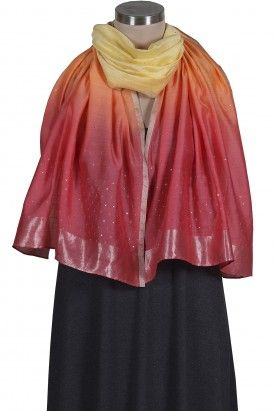 Red Ombre Badla Stole