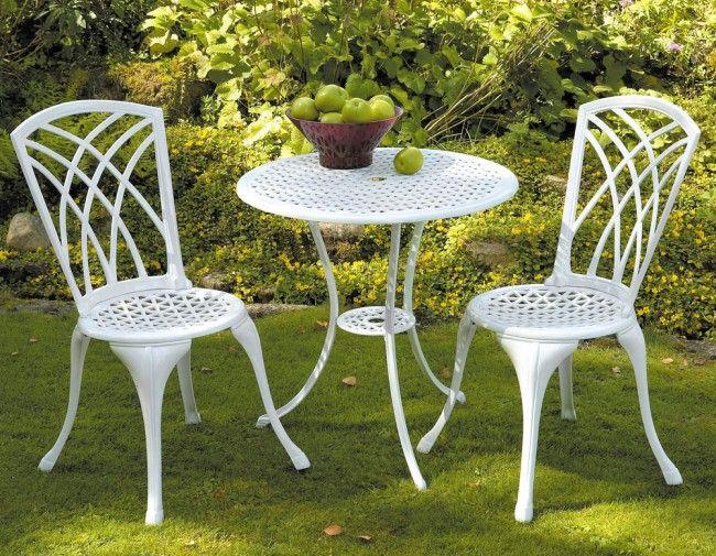 Serenad Cafeset Vit Outdoor Design Garden Furniture Outdoor