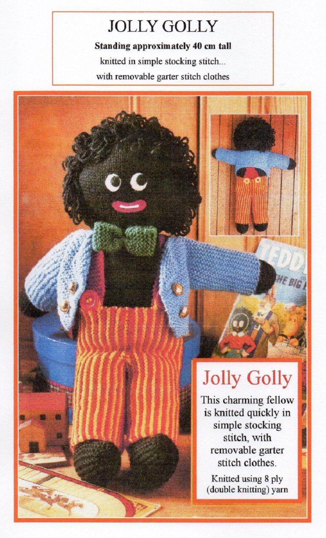 VINTAGE KNITTING PATTERN PDF 'JOLLY GOLLY GOLLIWOG SOFT TOY'