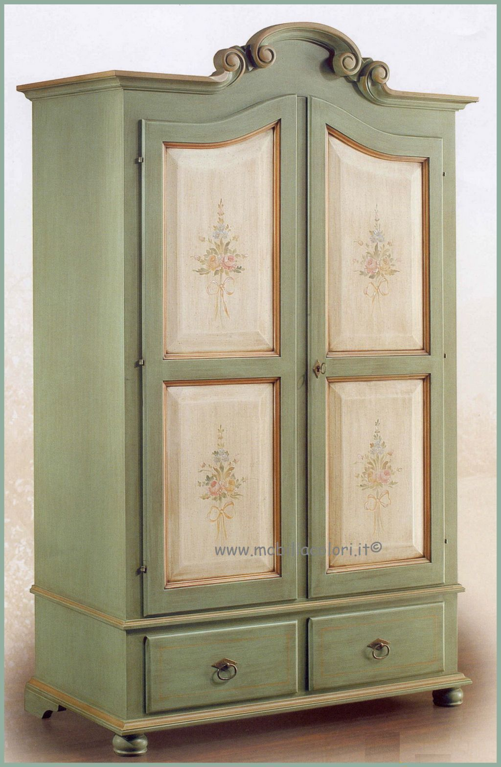 Armadio bicolore fiori decorato armadi shabby pinterest painted furniture furniture e armoire - Decoupage mobili cucina ...