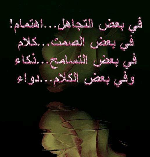 احيانا يكون في بعض التجاهل اهتمام Qoutes Arabic Calligraphy Words