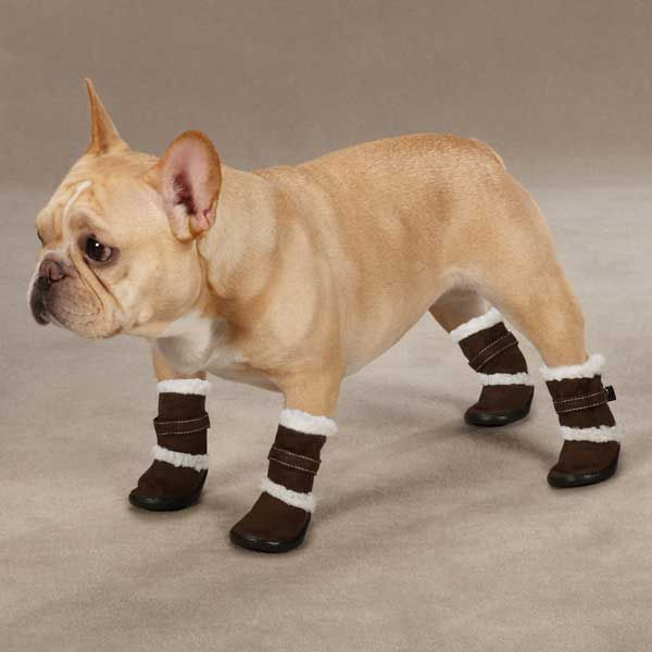 Classic Sherpa Dog Boots Chocolate Dog Boots Dog Clothes Dogs