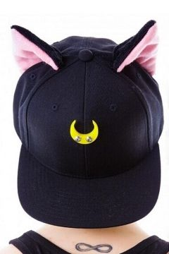 Kawaii Cute Cat Ears Embellish at Ears Outdoor Leisure Fashion Summer Baseball  Caps Women Outdoor Caps 65dd8cb7ca45
