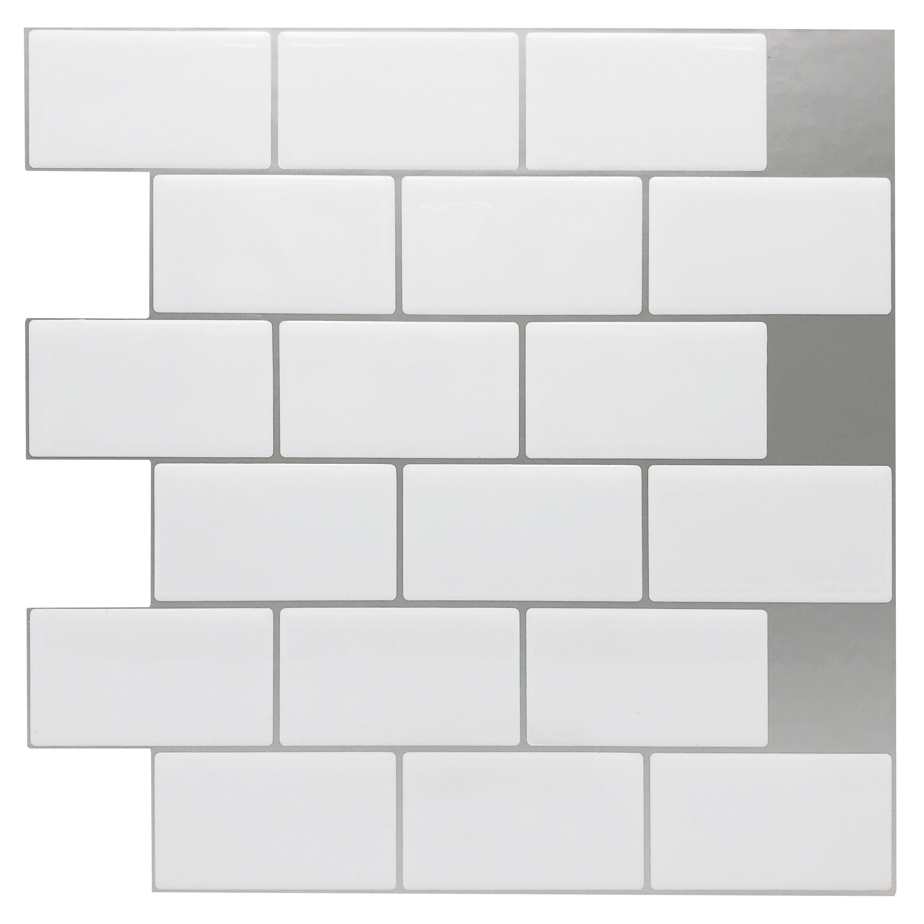 Youll Love The 12 X 12 Peel Stick Subway Tile In White At