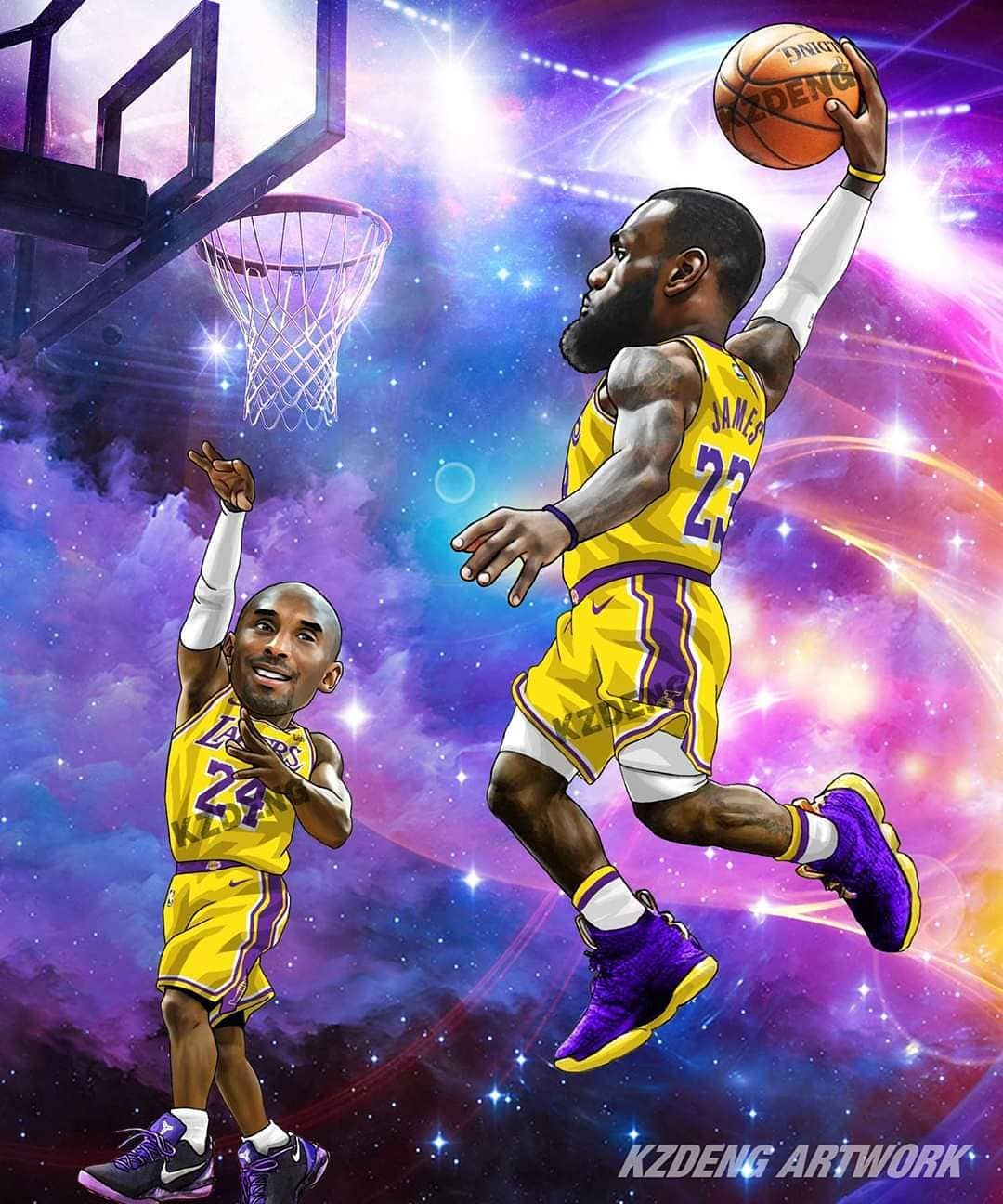 Pin By Frank Reveles On Lakers Lebron James Lakers Lebron James Jr King Lebron James Kobe and lebron lakers wallpaper iphone