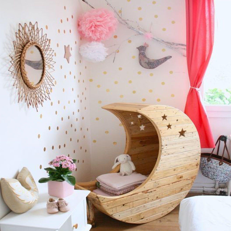 Ideas decoracin habitacin beb con topos de vinlo infantil