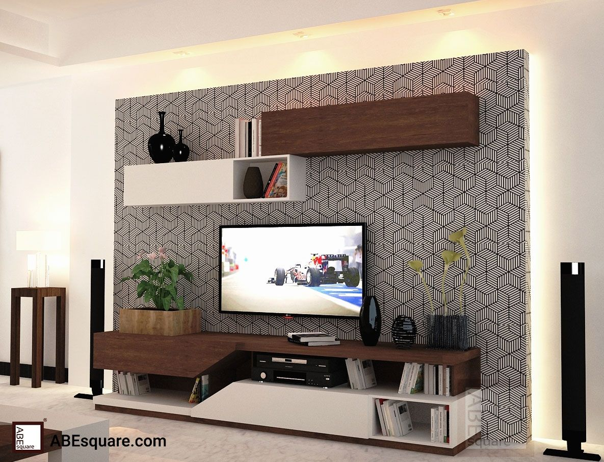 captivating living room tv wall design | Make heads turn with our classy #entertainment unit ...