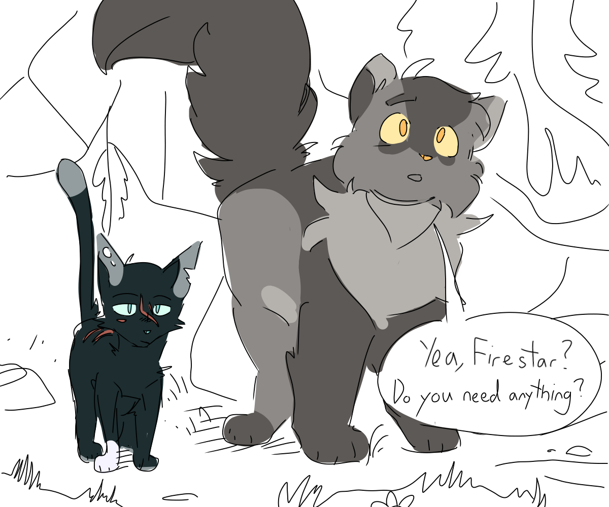 If Scourge joined ThunderClan Warrior cats comics