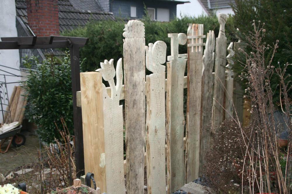 Zaun 8 holzdeko garden crafts garden und garden art for Gartenzaun sichtschutz ideen