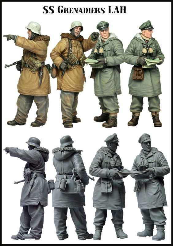 1:35 WWII Stalker Soldiers-E118 High Quality Resin Kit 1 Figure