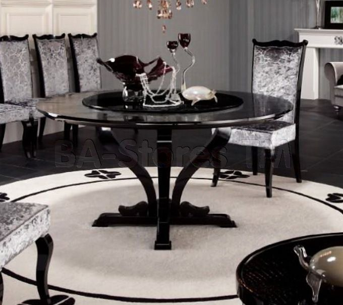 Armani Xavira Round Crocodile Lacquer Table Vig Furniture