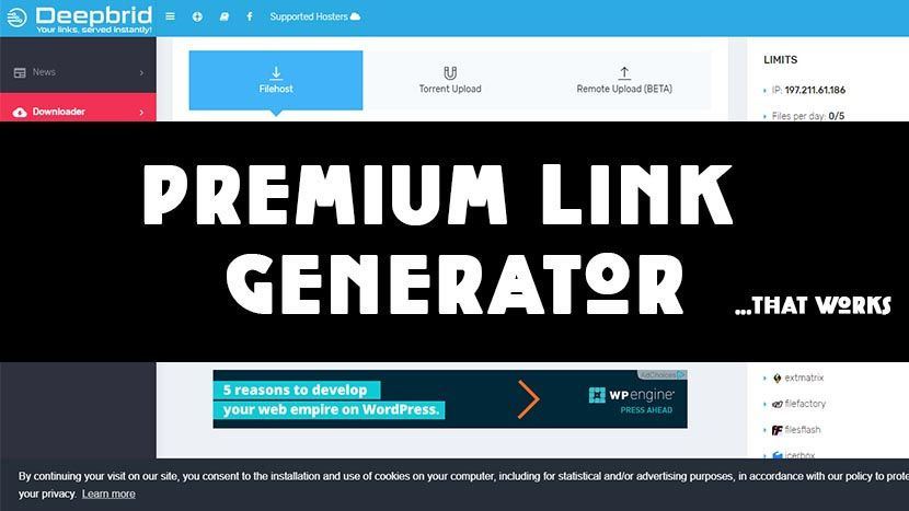 Discover 13 Free Premium Link Generator Working in 2019 | PIN 4