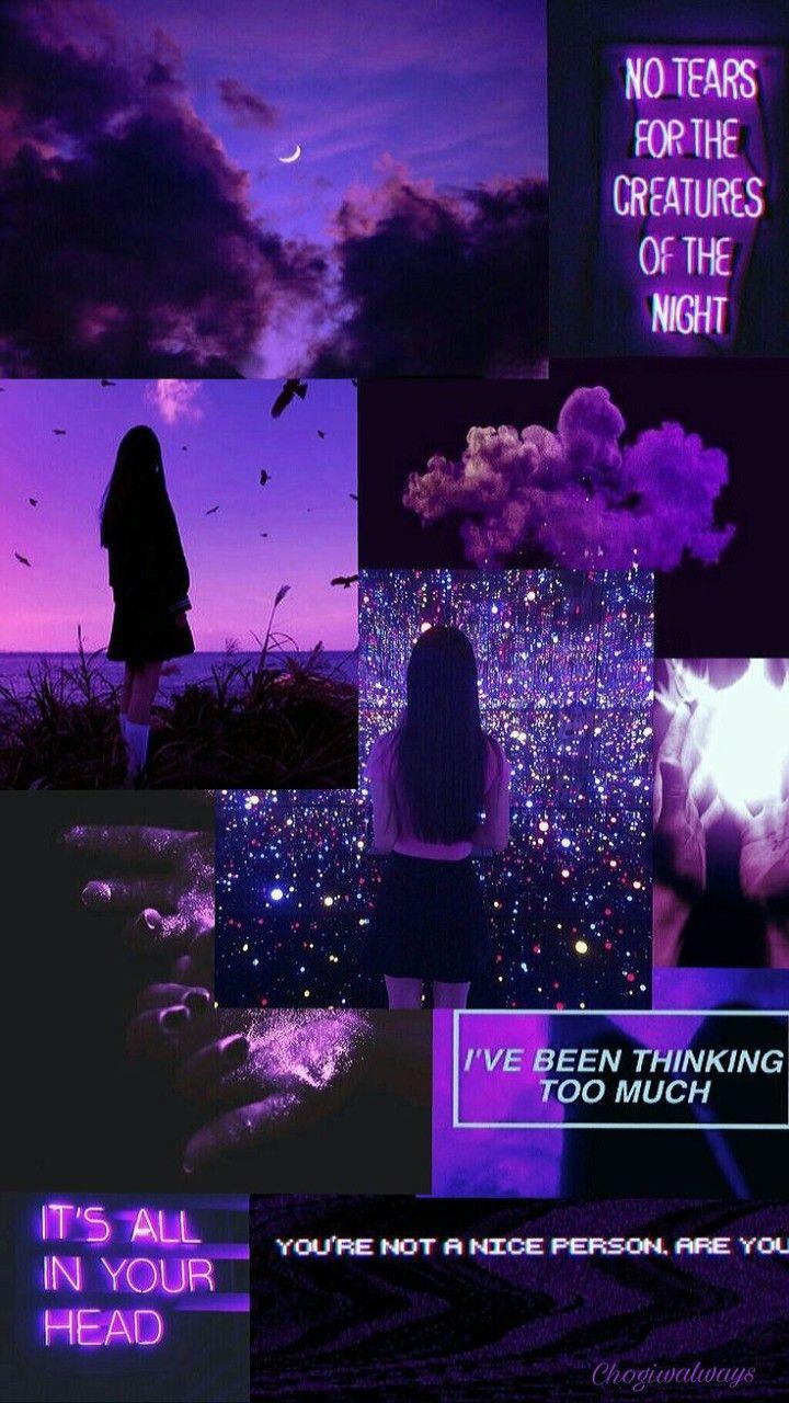 Aesthetic/Purple/Virgo/Witches/Female/Dark/Night | Purple ...