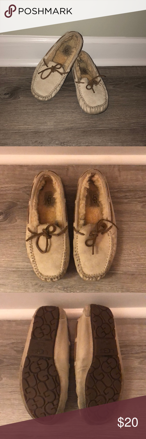 9a79ea7916a Ugg moccasins Uggs moccasins size 7 Some wear can be cleaned with ...