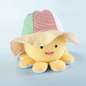 "Baby Aspen ""Little Wader and Sun Shader"" Baby Sunhat and Plush Octopus Gift Set"
