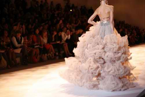 Be Natural at Night...in a ruffled ballgown!