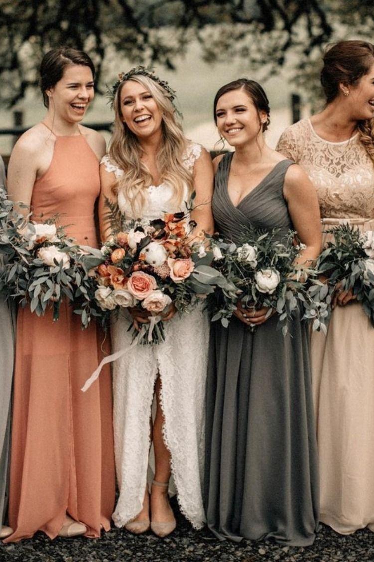 20 Vintage Sunset Orange Wedding Color Ideas For 2019 Bridesmaid Dress Colors Orange Bridesmaid Dresses Orange Wedding Colors [ 1125 x 750 Pixel ]