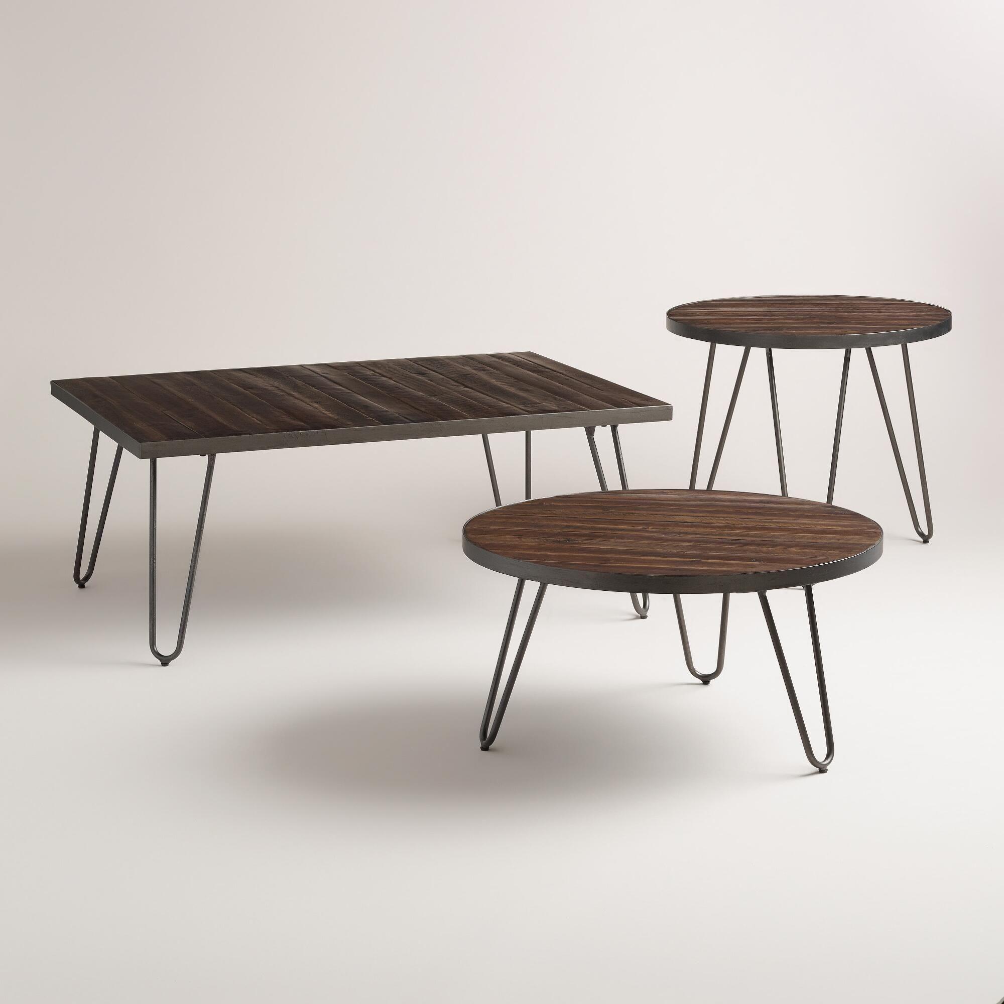 Rectangular Wood Hairpin Coffee Table