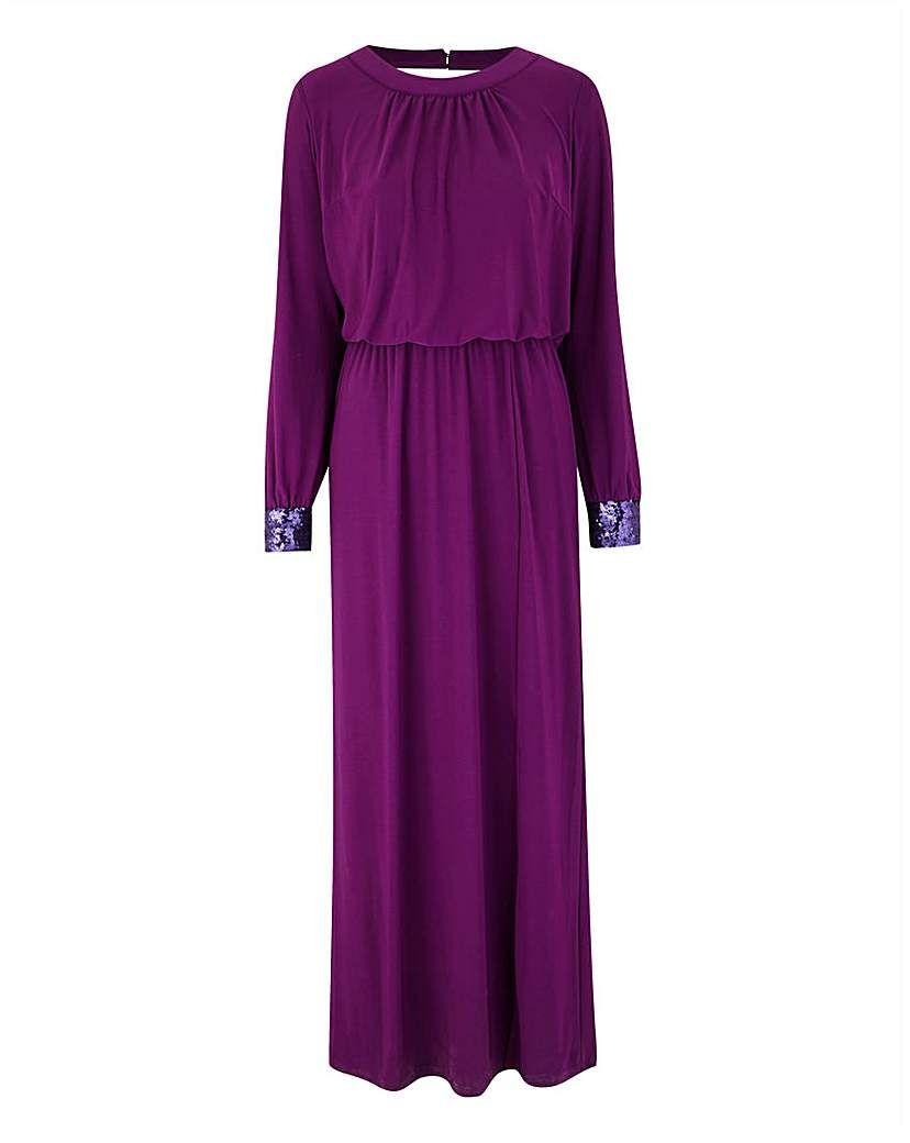 Sequin Detail Drape Maxi Dress Drape Maxi Dress Dresses Fashion