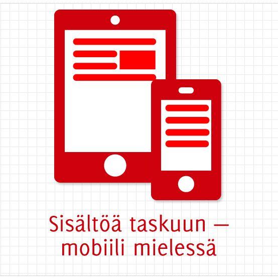 Sisältöä taskuun — mobiili mielessä