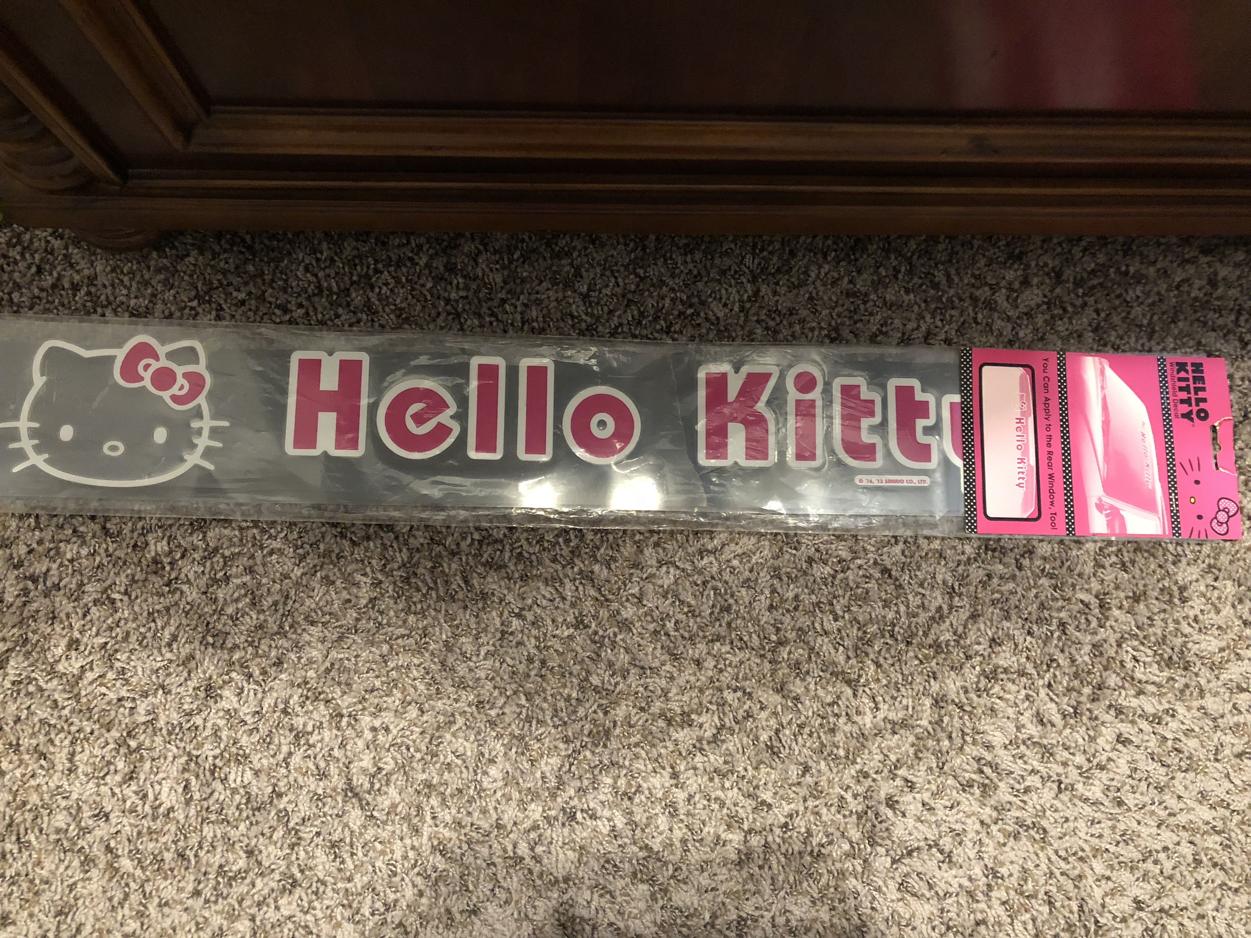Hello Kitty Car Windshield Decal Hello Kitty Car Hello Kitty Car Accessories Hello Kitty Accessories [ 3024 x 4032 Pixel ]