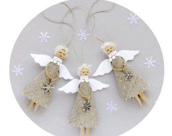 Christmas Ornaments Burlap