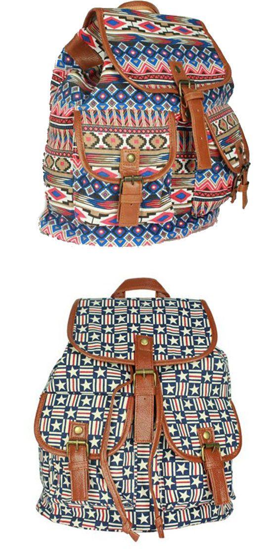 fe06b68250 Retro Geometry Diamond Star Stripe Pattern Drawstring Hasp Rucksack Backpack  for big sale !  rucksack  backpack  retro  diamond  star  bag