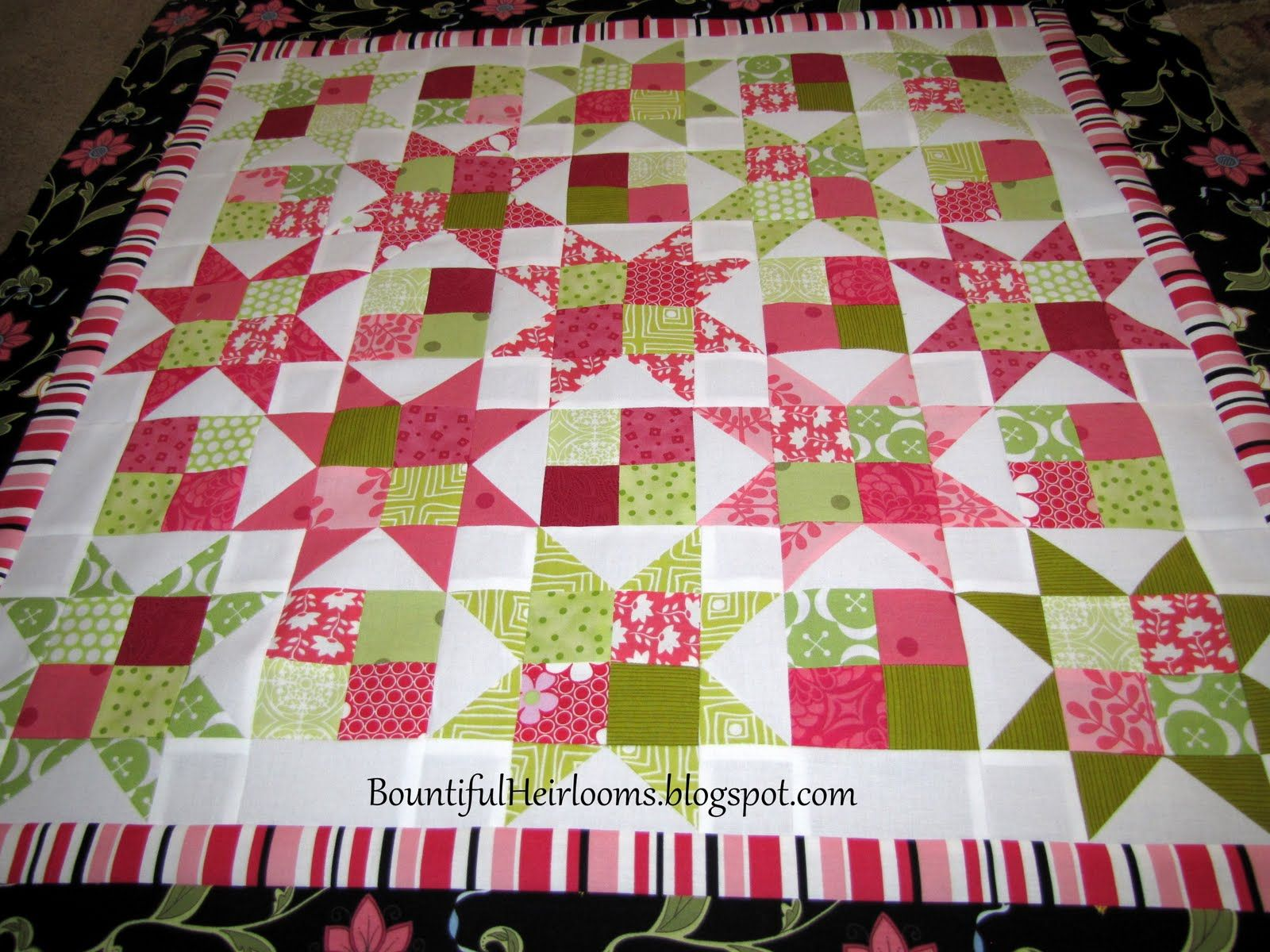 easy quilt patterns using 5 inch squares Here is the result -- which is about 32 inches square ...