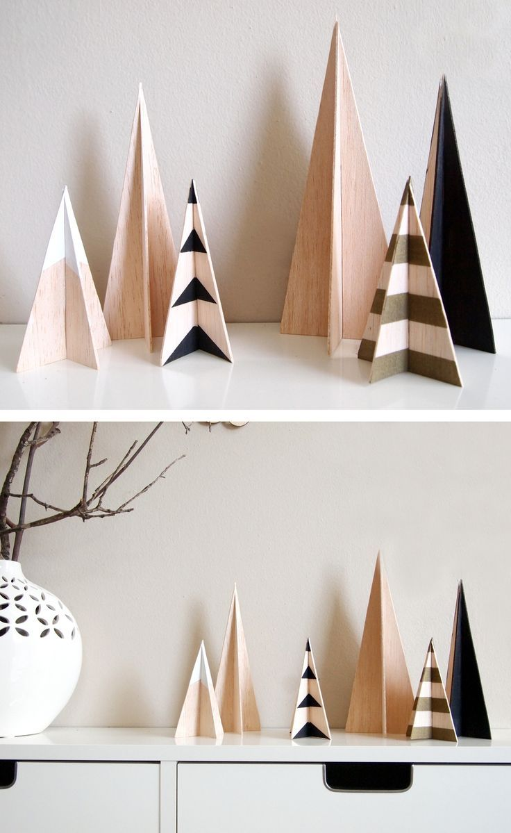 How To: Make a DIY Modern Wooden Christmas Tree Set #christmasdecor