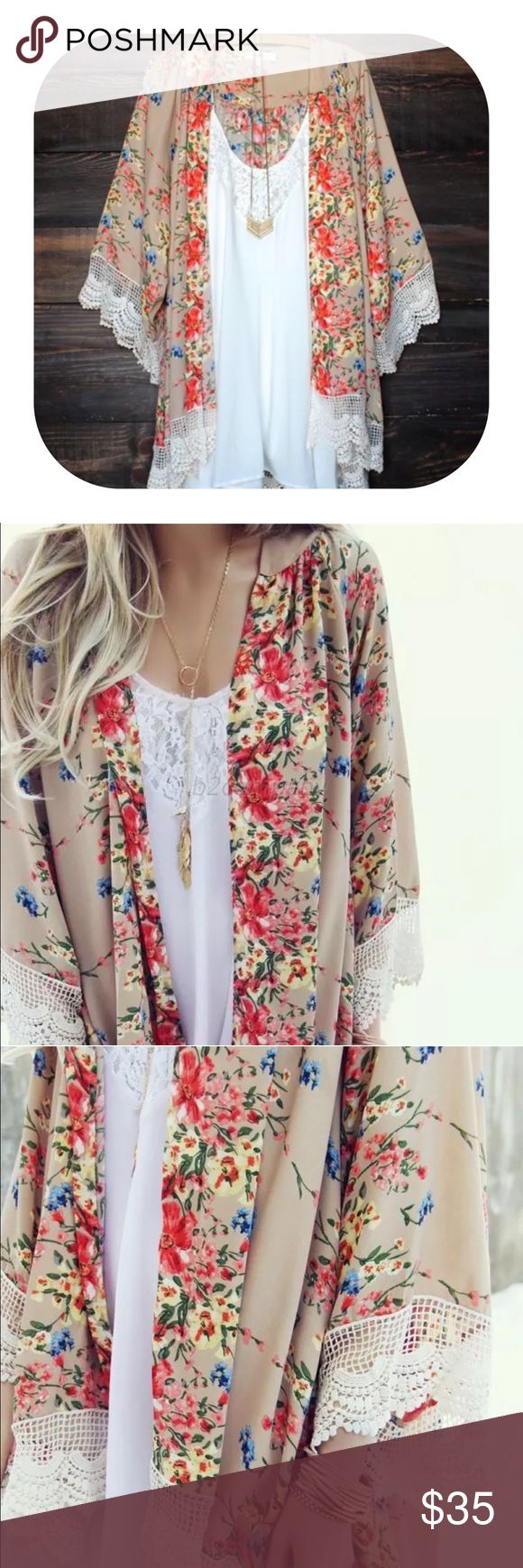 Spotted while shopping on Poshmark: floral print chiffon cardigan ...