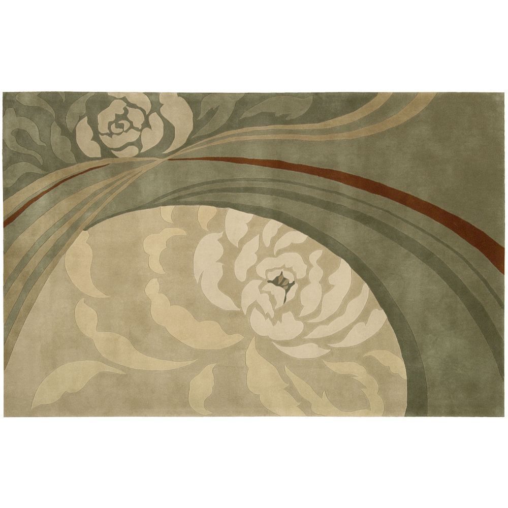 Dimensions Floral Rug - 5' x 8', White